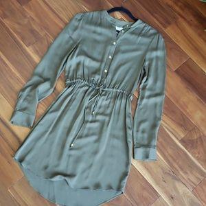NWT Michael Kors women's 100% silk shirt dress M